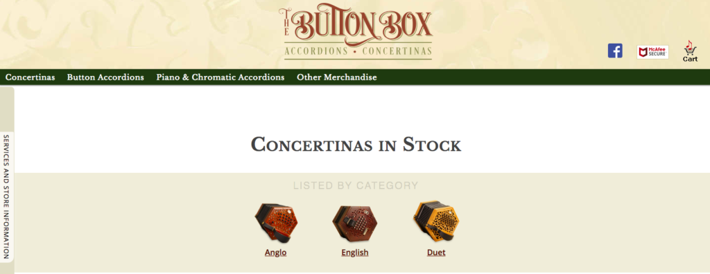 The Button Box concertina for sale