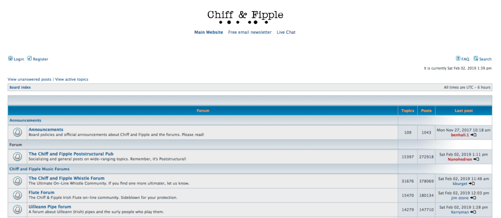 Chiff and Fipple Forums learn tin whistle