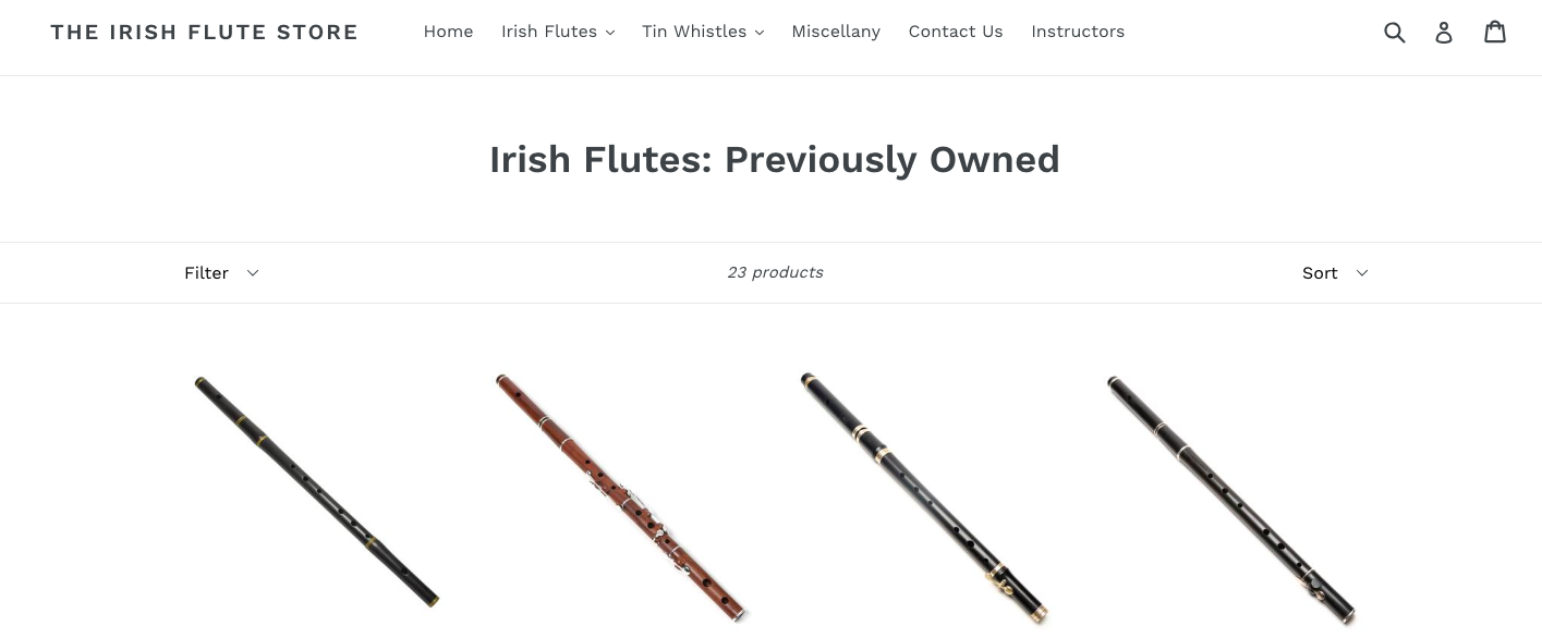 Irish flute store for sale