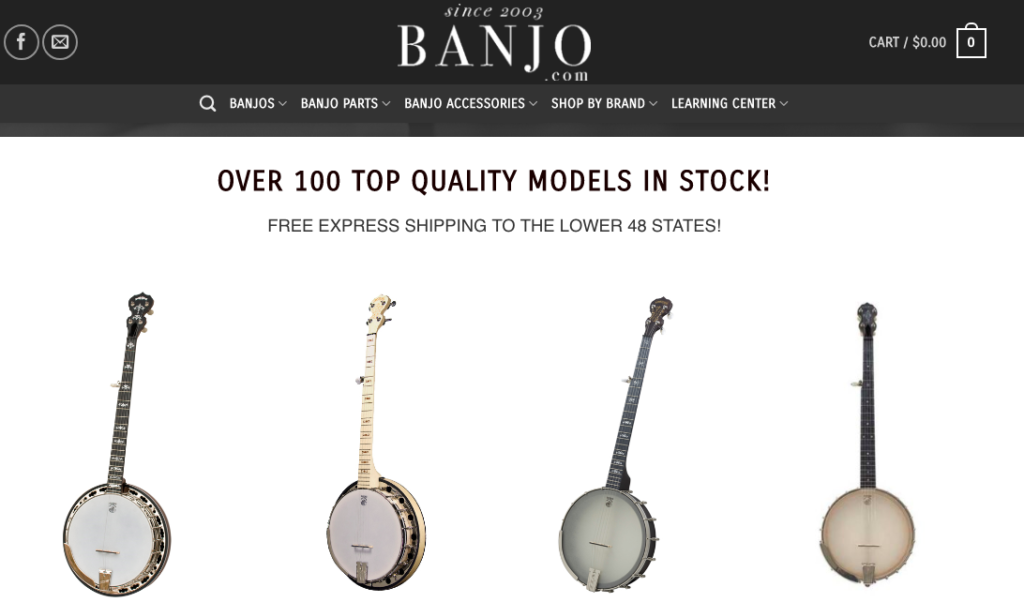 Banjo.com banjo for sale