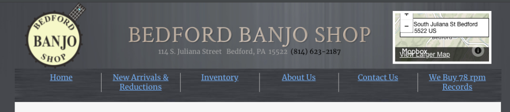 Bedford banjo shop banjo for sale